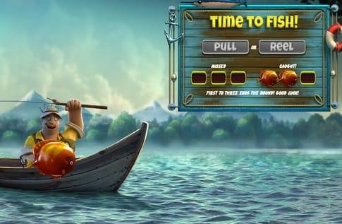 Бонусная игра автомата The Angler