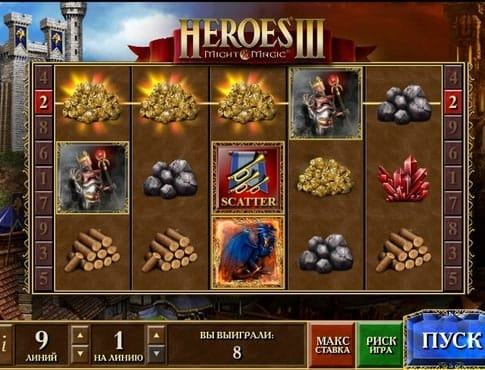 Символ скаттера в Heroes 3 онлайн