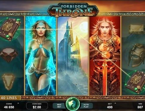 Выпадение выигрышной комбинации в автомате Forbidden Throne