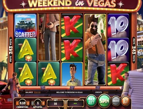 Скаттер в игре Weekend in Vegas