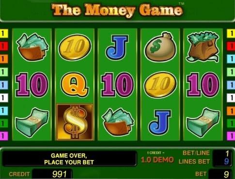 Символы игрового аппарата The Money Game